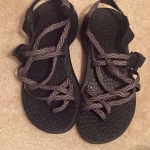 Gray striped Chaco sandals!!!